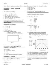 Linear Equations & Polynomials Worksheet