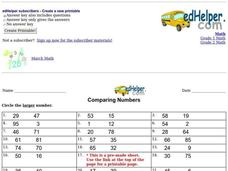 Comparing Numbers #3 Interactive