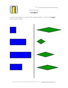 Size Worksheet: Longest Worksheet