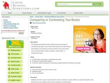 Comparing or Contrasting Two Books Lesson Plan