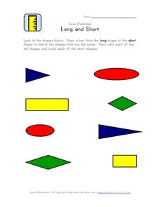 Sizes: Long and Short Worksheet