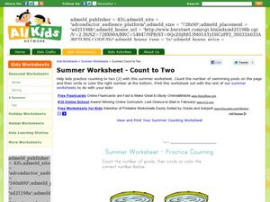 Summer Worksheet - Count to Two Worksheet