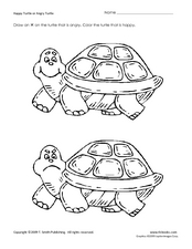 Happy Turtle or Angry Turtle Worksheet