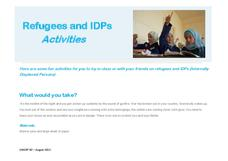 Refugees and IDPs Activities Activities & Project