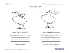 On and Off Concepts Worksheet