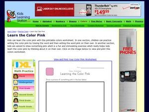 Learn the Color Pink Worksheet
