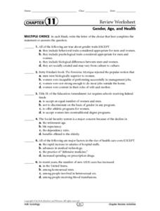 Gender, Age, and Health Lesson Plan