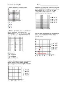 Coordinate Geometry and Ordered Pairs Worksheet
