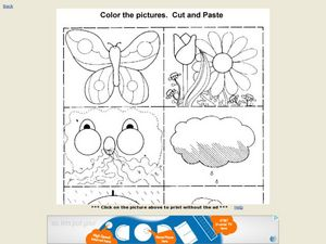 Color, Cut and Paste Worksheet