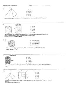Surface Areas and Volumes Worksheet