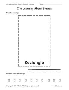 I'm Learning About Shapes: Rectangle Worksheet