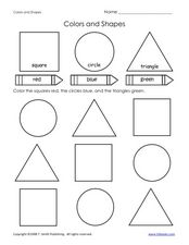 Colors and Shapes Preschool Lesson Plans & Worksheets
