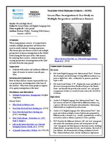 Lesson Plan: Immigration: A Case Study on Multiple Perspectives and Diverse Formats Lesson Plan
