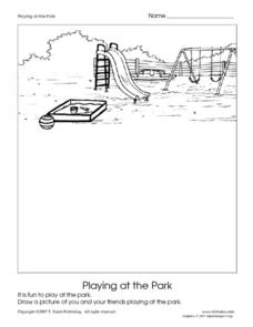 Playing at the Park Worksheet
