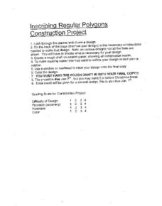 Inscribing Regular Polygons Worksheet
