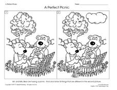 A Perfect Picnic Worksheet