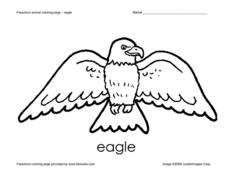 Preschool Animal Coloring Page - Eagle Worksheet