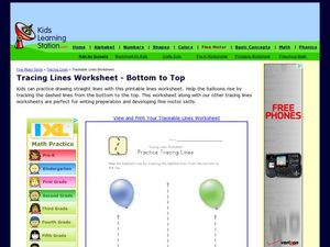 Practice Tracing Lines Worksheet