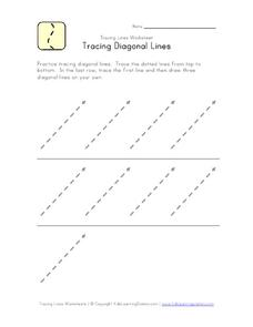Tracing Diagonal Lines Worksheet