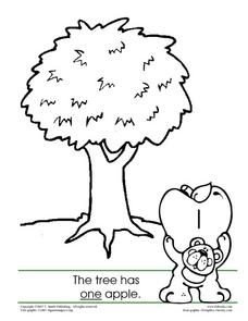 The Apple Tree: A Counting Book Worksheet