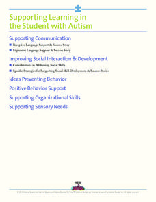 Supporting Learning in the Student with Autism Activities & Project