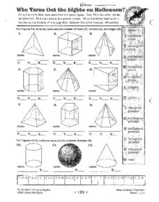 Measurements in Geometry: Space Figures Worksheet