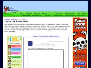Learn the Color Blue Worksheet