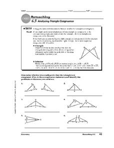 Analyzing Triangle Congruence Worksheet
