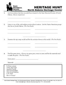 Heritage Hunt Worksheet