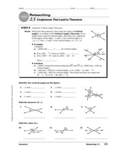 Conjectures That Lead to Theorems Worksheet