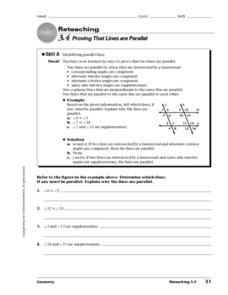 Proving That Lines are Parallel Worksheet