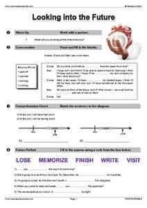 Looking Into the Future- Verb Tenses Worksheet