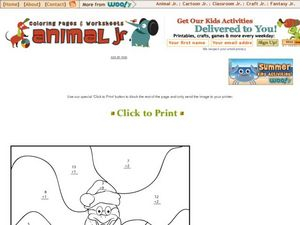 Animal Jr. Christmas Worksheet Worksheet