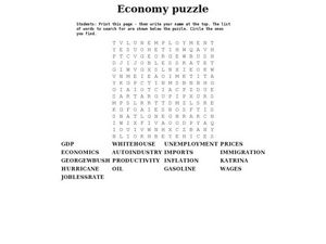 Economy puzzle Worksheet