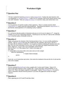Worksheet Eight:  Exploring Functions and Cartesian Products Worksheet