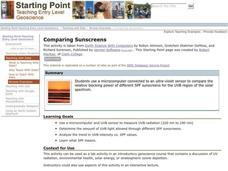 Comparing Sunscreens Lesson Plan
