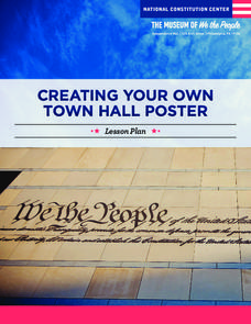 Creating Your Own Town Hall Poster Lesson Plan