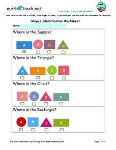 Shape Identification Worksheet Worksheet