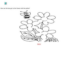 Bee and Flower Maze Worksheet