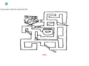 Cat Maze Worksheet