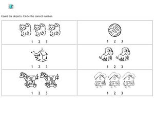 Circle 1, 2, 3 Worksheet