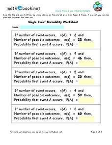 Single Event Probability Interactive