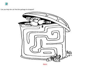 Garbage Maze Worksheet