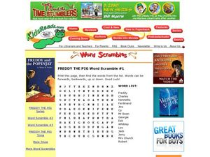 Freddy the Pig Word Scramble #1 Lesson Plan