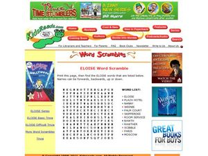 Eloise Word Scramble Lesson Plan