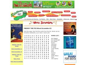 Freddy the Pig Word Scramble #2 Lesson Plan