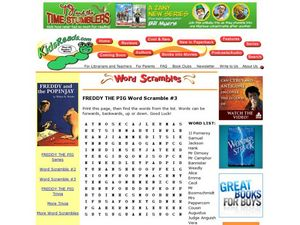 Freddy the Pig Word Scramble #3 Lesson Plan