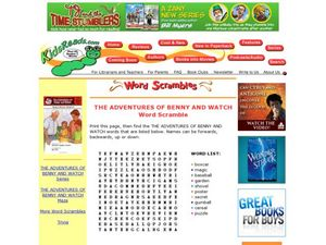 The Adventures of Benny and Watch Word Scramble Lesson Plan