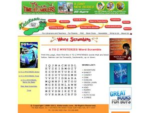 A to Z Mysteries Word Scramble Lesson Plan
