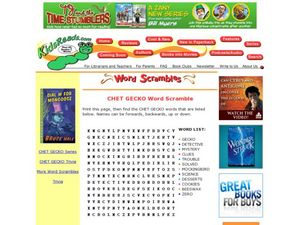 Chet Gecko Word Scramble Lesson Plan